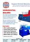 Horizontal Baler - Brochure