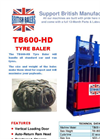 Model TB600 HD - Tyre Baler - Brochure