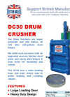 Model DC30 - Drum Crusher for 205-litre (45-gallon) Drums - Brochure