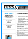 Mody - Model G-700 SERIES - Portable Electric Submersible Pump Brochure