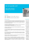 Model BK-G4 and BK-G4T - High Quality Residential Diaphragm Gas Meters Datasheet
