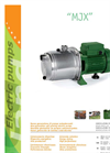 Model MJX - Self-Priming Centrifugal Stainless Steel Multistage Electric Pumps Brochure