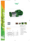 Model MK - Multistage Centrifugal Electric Pumps Brochure