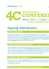 4C Environmental Conference - Frequently Asked Questions - Brochure