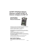 MSA ALTAIR - Model 4X - Multigas Detector - Manual