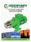 Model GPA – Caster MPA - Sliding Vanes Pumps Brochure