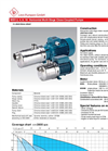 Model MXH 2, 4, 8, 16 - Horizontal Multi-Stage Close Coupled Pumps Brochure