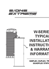 W-Series - Grinder Pump Station Typical Installation Instructions Manual