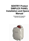 Sentry Protect Simplex Panel Installation and Operation Manual