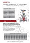 PN 40 - Stainless Steel Gate Valve With Rising Stem - Technical Specifications