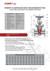 PN 64 - Stainless Steel Gate Valve with Rising Stem - Technical Specifications