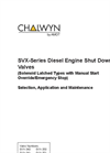 SVX - Model CE230 - Manual Air Intake Shut Down Open Valves Brochure