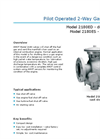 Model 2180 - Diaphragm Operated 2-Way Gas Valve Brochure