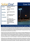 Solar Roadway Lighting - Masdar City
