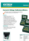 Current and Voltage Calibrator/Meter 412355A Datasheet