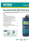 Extech - Model 407119 - Heavy Duty CFM Hot Wire Thermo-Anemometer - Brochure