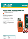 Extech - Model CT40 - Cable Identifier/Tester Kit - Brochure