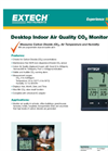 Extech - Model CO100 - Desktop Indoor Air Quality CO2 Monitor Brochure