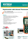 Extech - Model HD500 - Psychrometer with InfraRed Thermometer - Datasheet