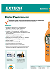 Extech - Model RH300 - Hygro-Thermometer Psychrometer - Brochure