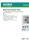 Extech - Model 445702 - Hygro-Thermometer Clock - Datasheet