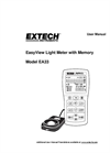Extech - Model EasyView™ EA33 - Light Meter with Memory - Manual