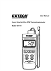 Extech - Model 407119 - Heavy Duty CFM Hot Wire Thermo-Anemometer - Manual