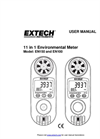 Extech - Model EN100 - Compact Hygro-Thermo-Anemometer with Light Sensor - Manual