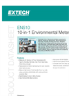 Extech - Model EN510 - Convenient 10-in-1 Environmental Meter - Datasheet