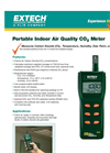 Extech - Model CO250 - Portable Indoor Air Quality CO2 Meter - Datasheet
