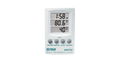 Extech - Model 445702 - Hygro-Thermometer Clock