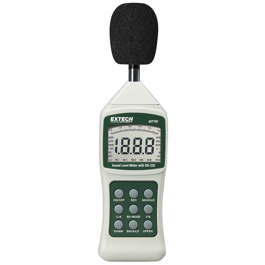 Extech - Model 407750 - Sound Level Meter with PC Interface