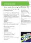 Model TWE series - Reverse Osmosis Systems Brochure