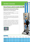 Model BWE series - Reverse Osmosis Systems Brochure