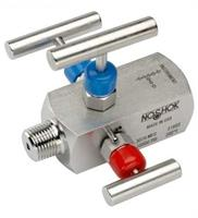 NOSHOK - Model 3070 Series - 3-Valve Double Block & Bleed, Hard Seat Needle Valves
