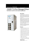 Model 2080E-T - 8-Port Managed Ethernet Switch - Brochure