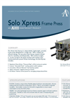 Almex Solo Xpress - Lightweight, Portable Frame Vulcanizer Press Datasheet