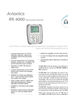 Aeroflex - Model IFR 4000 - Navigation Communications Ramp Test Set Datasheet