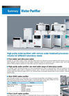 Water Purifier Overview - Brochure