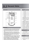 Figure X955SS - Stainless Steel Air & Vacuum Valve - Data sheet