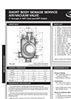 GA - Series 939 - Short Body Wastewater Air & Vacuum Valve - Data Sheet