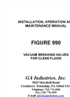 GA - Series 990 - Vacuum Breaking Valve - Manual