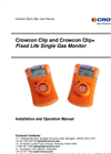 Crowcon Clip and Crowcon Clip+ - Fixed Life Single Gas Monitor User Manual