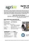 AgriAir 1000 Portable Air Purifier System Specification Sheet
