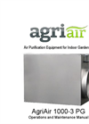 AgriAir PG Air Purifier System Specification Sheet