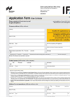 Main Exhibitors - Application form
