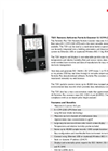 Particles Plus - Model 7201 - Remote Particle Counter (0.2 µm @ 0.1 CFM) Datasheet