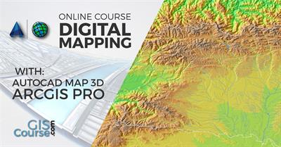 Digital Mapping with ArcGIS 10.x and Autocad Map 3D – Online GIS Training