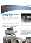 Stainless Steel Water Intake Screens Brochure