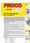 Proco - Model Series 500 - Non-Metallic Flexible Fan Connectors - Brochure